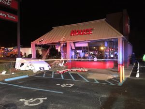Semi-Truck Crashes Into Restaurant Leaving Two Frightened Employees, One Confused Driver, and A Wrecked Eatery