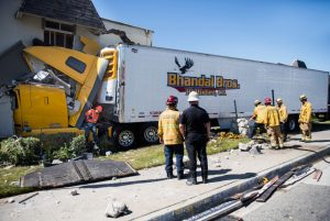 Truck Crashes Into Fullerton Apartment… Some Residents Transported To A Hospital