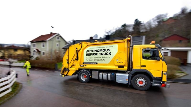 New Autonomous Garbage Trucks Coming To The Market…. Thanks Volvo!