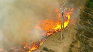 Sun Valley Fire Grows. 210 Freeway was Shut Down